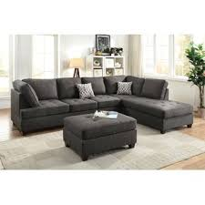 Sectional Sofa Black Black Sectional Sofas You Ll Wayfair