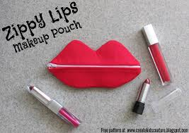 create kids couture zippy lips makeup pouch