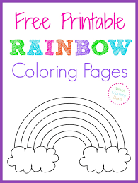 rainbow template children u0027s activity craft templates 1421