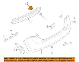 nissan versa bumper replacement nissan oem 14 16 versa note rear bumper stay bracket support right