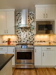 furniture white yorktown cabinets with mosaic tile backsplash and