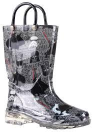 light up rain boots star wars dark side lighted rain boots for kids