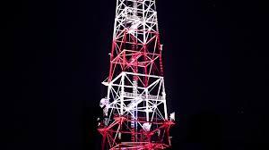 Radio Black Background Antennas Of Mobile Phone Communication Television Internet