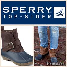 womens sperry duck boots size 11 64 sperry shoes sperry rip water duck boot navy sz 11