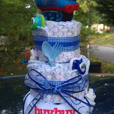 best thomas the train diaper cake centerpiece baby shower gift for