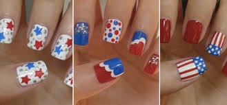 3 awesome ways to do red white and blue nail art