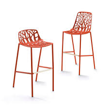 Aluminum Outdoor Chairs Contemporary Bar Chair Stackable Cast Aluminum Outdoor