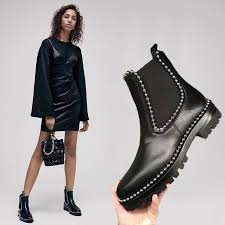 womens chelsea boots 2017 europe vintage chelsea boots winter rivet