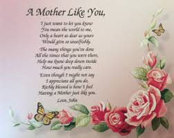 gift for mom birthday gift for mom personalized poem for