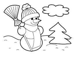 easy christmas coloring page free download