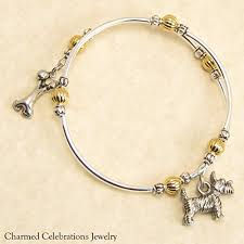 unique engraved gifts scottish terrier dog breed wrap bracelet handmade charm bracelet