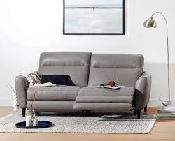 Motion Leather Sofa Regine Power Motion Leather Sofa Scandis