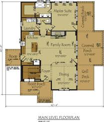Floor Plans With Porches by Lake Wedowee Creek Retreat House Plan