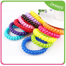 hair band coiled hair band h0t004 2015 hot sellinghair tie ponytail holder
