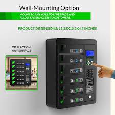 6 bay pin code charging locker chargetech