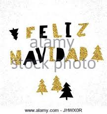 feliz navidad christmas card label with text feliz navidad means merry christmas black