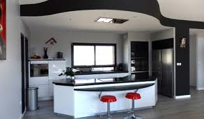 cuisine ouverte moderne formidable modele de cuisine americaine avec ilot central 6