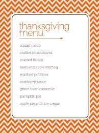 thanksgiving dinner list templates happy thanksgiving