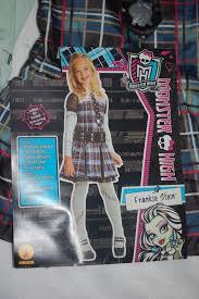 girls monster high halloween costume frankie stein dress belt