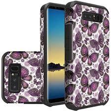 Samsung Galaxy Rugged Samsung Galaxy Note 8 Paisley Butterflies Design Slim Hybrid