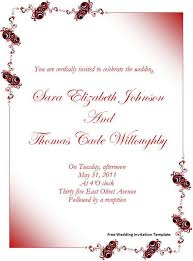 free wedding invitations sles free wedding invitation templates for word iloveprojection