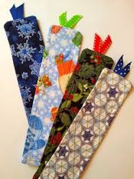 Handmade Fabric Crafts - handmade fabric bookmark couture et broderie act