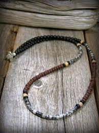 beaded necklace styles images Mens beaded necklace mens jewelry small 4mm bead necklace jpg