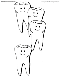 tooth coloring pages printable kids coloring