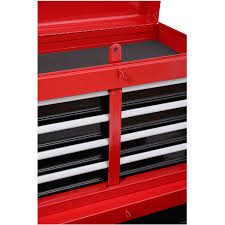 Rolling Tool Cabinets Homcom Rolling Tool Cabinet Chest With 5 Drawers And Removable