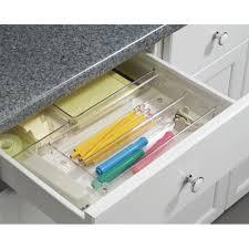 Kitchen Drawer Organizer Mdesign Shallow Kitchen Drawer Organizer For Silverware Spatulas