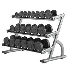 optima series three tier dumbbell rack life fitness strength