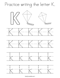 practice writing the letter k coloring page twisty noodle