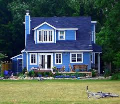 painted houses comfortable home blue painted houses