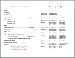 wedding ceremony bulletin bulletin templates god s knot