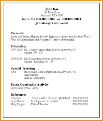 employment resume template sle high school student resumes
