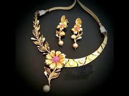 elegant gold necklace designs images Latest elegant trendy jewellery designs part 03 jpg