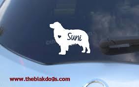 australian shepherd jacksonville australian shepherd silhouette vinyl sticker personalized