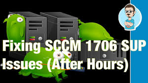 issues with software update point sync within sccm 1706 the