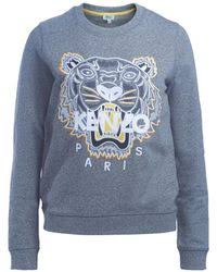 kenzo tiger sweater in white lyst