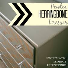 remodelaholic 9 cool wood projects november link party pneumatic addict pewter herringbone dresser tutorial