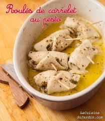 cuisiner le carrelet filets de carrelet roulés au pesto la cuisine du jardin