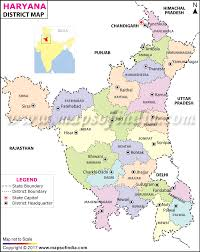 North India Map by District Map