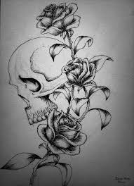 skull and roses design by kirstynoelledavies on deviantart