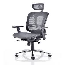 desk chair with headrest office chairs with headrest dynamic mirage 2 executive mesh office