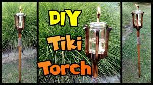 diy tiki torch mason jar u0026 custom pole youtube