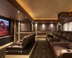 home theater modern design home theater with modern tiered ceiling with led lights some