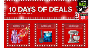 are target black friday deals online target 10 days of doorbuster deals in store and online starts