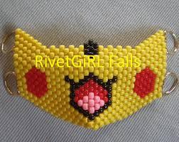 bead mask pikachu kandi mask etsy