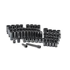 home depot husky black friday husky 1 2 in drive sae metric impact socket set 64 piece