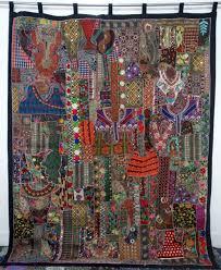 Sari Curtain Handmade Indian Vintage Sari Patchwork Curtains